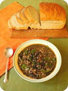 mushroom, chard, and lentil soup #vegetarian