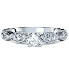 1/2Ct Diamond Engagement Ring Vintage Antique Round by Pompeii3
