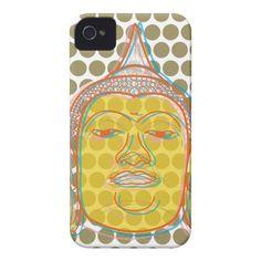 Buddha Zen Modern Pop Dots iPhone 4 CaseMate