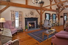 The Great Room at the Inn at Silver Maple Farm in the Berkshire foothills of New York.