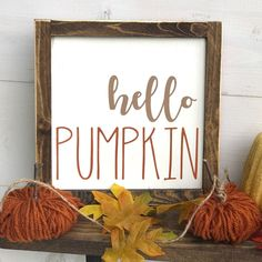Hello Pumpkin Decoration for Simple and Creative Thanksgiving Decorations Fall Wood Signs, Fall Signs, Wooden Signs, Fall Pallet Signs, Fall Decor Signs, Fall Canvas, Shabby, Fall Projects, Banner