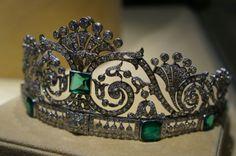 Boucheron emerald tiara