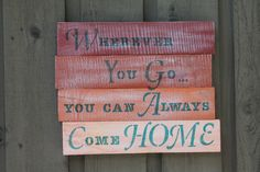 Rustic wood pallet Sign Inspirational Home wall by RusticRedone, $25.00