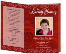 Ethnic Themed Funeral Programs or Obituary Programs: Kente Single ...