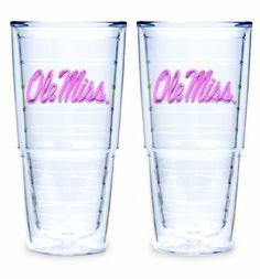 Tervis Tumbler University of Missippi, 24-Ounce, Pink, Set of 2 by Tervis Tumbler. $30.65. Set of 2 24-ounce University of Missippi - Pink Tervis Tumblers. University of Missippi - Pink. High-Grade Polymer. Lifetime Warranty. Microwave and Dishwasher safe. Tervis Tumblers double wall insulation keeps cold drinks cold and hot drinks hot. Their high-grade polymer material makes these tumblers the strongest, most durable drinkware available today. These tumblers stand u...