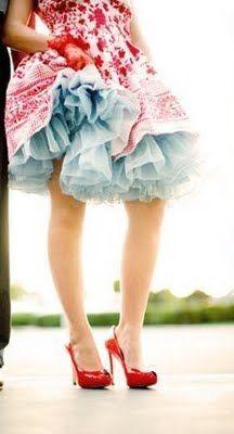 Colorful petticoat.