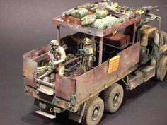 """US """"Gypsy Caravan"""" Guntruck. Army Surplus Vehicles, Military Vehicles, Girls Dollhouse, Wood Toys Plans, Model Hobbies, Military Modelling, Military Diorama, Tin Can Lanterns, Armored Vehicles"""