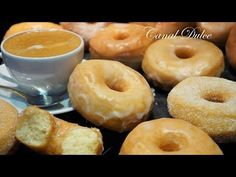 DONUTS PERFECTOS RECETA FÁCIL - YouTube Donut Recipes, My Recipes, Mexican Food Recipes, Sweet Recipes, Cake Recipes, Dessert Recipes, Cooking Recipes, Favorite Recipes, Desserts