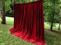 Moulin Rouge red curtains- Re-create for back drop Home Curtains, Red Curtains, Velvet Curtains, Wedding Stage Backdrop, Photo Booth Backdrop, Ceremony Backdrop, Cabaret, Burlesque Party, Industrial Wedding Decor