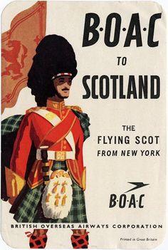 BOAC Poster 1950s