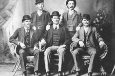 """The outlaws took the loot and headed for Fort Worth where they bought expensive suits, silk shirts, and new boots and frolicked in the tenderloin district aptly named """"Hell's Half Acre."""" The three fanciest sporting houses and the favorite haunts of the Wild Bunch when they were in Ft Worth were those of Mary Porter, Jessie Reeves and Josie Belmont. Old West Outlaws, The Wild Bunch, The Marshall, Local Banks, Famous Photos, Local Photographers, The Grim, Latest Books, Fort Worth"""
