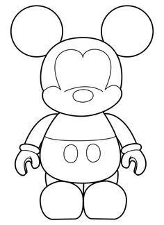 Mickey Mouse Face Cake Template