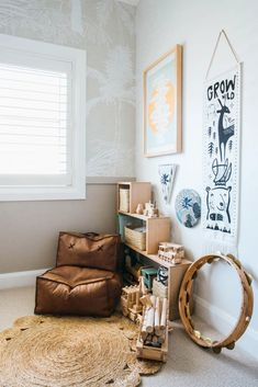 Today, I'm taking you inside a beautifully renovated Australian home, stylishly renovated by two TV stars. Kyal and Kara Demmirch are two of my. Interior Styling, Interior Decorating, Interior Design, Kyal And Kara, Diy Blinds, Cozy Corner, Kids Corner, Coastal Homes, Kid Spaces