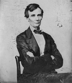 """Abraham Lincoln, c. 1860. Thought to be the last beardless portrait of the soon-to-be president, this ambrotype was made for the portrait painter John Brown, who wrote:""""There are so many hard lines in his face that it becomes a mask to the inner man. His true character only shines out when in an animated conversation, or when telling an amusing tale…He is said to be a homely man; I do not think so."""""""