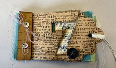 Tim Holtz inspired Tag book, cover