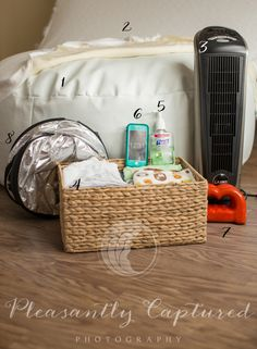 Setting up for a newborn session | Pleasantly Captured Photography | Newborn Photographer Jacksonville, NC