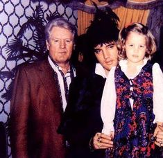 elvis lisa marie presley | Elvis,Lisa & Vernon - Elvis Aaron Presley and Lisa Marie Presley Photo ...