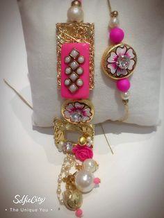Designer rakhi n lumba sis love Diwali Decorations, Handmade Decorations, Buy Rakhi Online, Rakhi Festival, Rakhi Making, Handmade Rakhi, Rakhi Design, Rakhi Gifts, Dj Booth