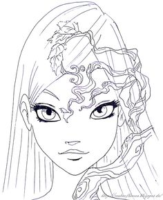 colouring pages cornelia from w.i.t.c.h