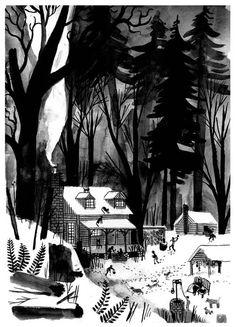 under wildwood sketch by carson ellis