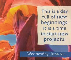 Wednesday 6/21/17 Affirmation