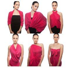 The best travel dress for all women. One garment infinite style possibilities. Choice is yours. Vestido Convertible, Convertible Clothing, Diy Fashion, Fashion Outfits, Womens Fashion, Do It Yourself Fashion, Herve Leger Dress, Infinity Dress, Bcbgmaxazria Dresses