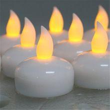 24 pcs eau activée étanche Led bougie pour le mariage couleur velas flutuantes bougie flottante blanc sans flamme velas flotantes(China (Mainland))