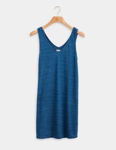 Georgia Indigo Dress - Indigo - Faherty Brand Jumpsuit Dress, Tank Dress, Indigo Dress, Nordstrom Dresses, Jumpsuits For Women, Organic Cotton, Georgia, Athletic Tank Tops, Feminine
