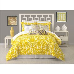 Trina Turk Ikat Yellow Comforter & Pillow Sham Set – Sheet Market