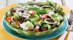 Kevennetty kreikkalainen salaatti