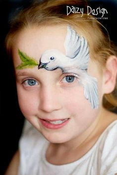 Dove face painting