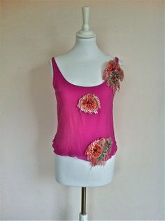 Emanuel Ungaro Pink Silk Top With Rosettes via The Queen Bee. Click on the image to see more!
