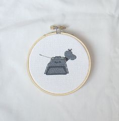 K9 Doctor Who Embroidery Hoop Art