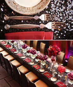 Dramatic & Glamorous Dinner Party {30th Birthday} google operetta inspiration
