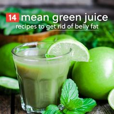 I love these mean green juice recipes! It's great for detoxing, rich in vitamins and antioxidants, and will help you get rid of your belly fat. Green Juice Recipes, Healthy Juice Recipes, Juicer Recipes, Healthy Juices, Healthy Smoothies, Healthy Drinks, Cleanse Recipes, Canning Recipes, Juice Smoothie
