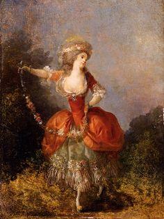 Schall Jean Frederic Lady Dancing With A Garland. Французские художники