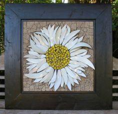 3D Daisy mosaic by Nikki Murray-Mason, Nikki Inc Mosaics