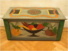 Omega Workshop chest pained by Roger Fry c1916