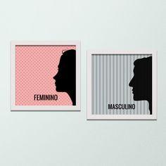 Quadro para Banheiro – Feminino e Masculino - Decor Quadros - decore com arte!