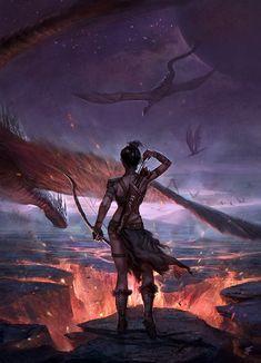 """Dragons AHHHH!"" by Jeremy  Fenske"