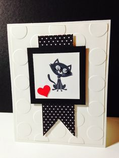 Stampin' in the Sun: You Little Furball Cat Card