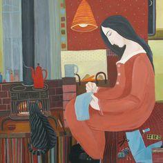 'Making Something New' By Artist Dee Nickerson. Blank Art Cards By Green Pebble. www.greenpebble.co.uk