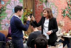 "#NewGirl 4x19 ""The Right Thing"" - Schmidt and his mother (guest star, Nora Dunn)"