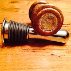 Custom Wood Bottle Stoppers with coin of your choice. Choose a special year to celebrate a Birth, Birthday, Wedding or Anniversary. by HalfElm on Etsy https://www.etsy.com/listing/205504717/custom-wood-bottle-stoppers-with-coin-of