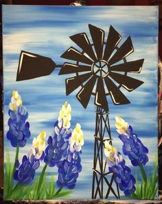 how to paint a windmill with acrylic - Google Search