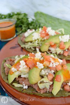 Huaraches de nopal con frijoles (fácil & saludable)