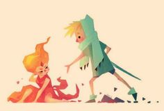 Adventure time - the hero and the princess