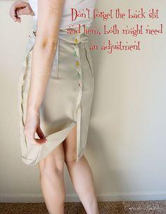 great pencil skirt tutorial - I love pencil skirts!