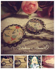 Alice in Wonderland Hairpins