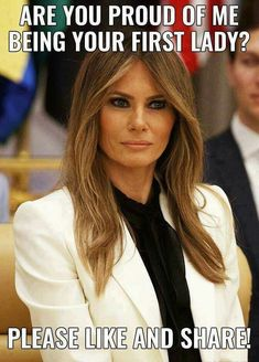 Yes First Lady Slick Q I Want to Come to your House And Spend Time Have some Fun ! Trump Is My President, Trump One, Malania Trump, Trump Train, First Lady Melania Trump, Trump Melania, Greatest Presidents, American Pride, Beautiful One